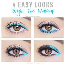 eye makeup looks using bright colors