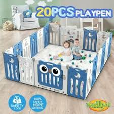 Kidbot 20 Panel Baby Safety Gate Baby Playpen Fence Child Gate Enclosure Ebay