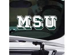Michigan State Car Window Sticker