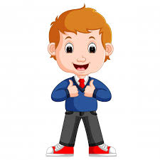 cute boy cartoon good posing premium