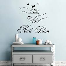 Nail Salon Wall Window Wall Sticker Woman Hands With Butterfly Wall Decal Nail Shop Wall Decor Manicure Logo Design Mural Ay1385 Wall Stickers Aliexpress