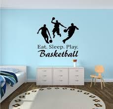 Eat Sleep Play Basketball Wall Decal Basketball Wall Etsy