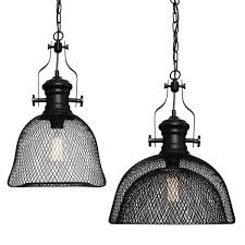 argyle metal mesh shade pendant light