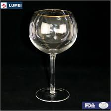 luxe 2 piece large wide red wine glass