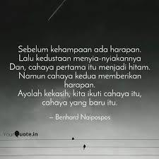 sebelum kehampaan ada har quotes writings by benhard h