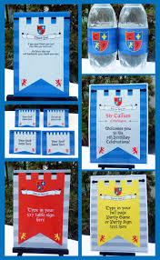Knight Party Invitation Decorations Full Printable Package