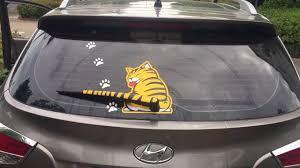 Rear Wiper Cat Decal Youtube