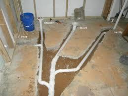 installing a basement bathroom plumbing