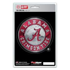 Alabama Crimson Tide 3d Die Cut Decal New 4 X 4 Window Or Car Flat Hub City Sports