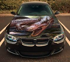 Vinyl Car Hood Bonnet Angry Dragon Jaws Decal Sticker Fit Any Etsy