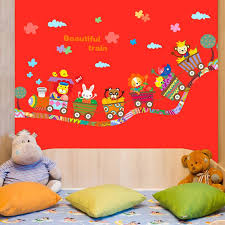 Cute Baby Kids Room Animals Wall Stickers Cartoon Train Decals Living Room Bedroom Diy Decoration Baby Room Wall Stickers Baby Wall Decal From Tanguimei 8 37 Dhgate Com