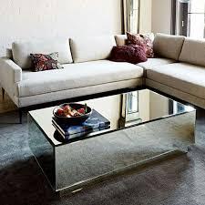 geo mirror coffee table mirrored