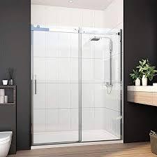 60 x72 frameless sliding shower door
