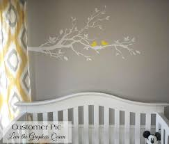 Birds With Nest In Tree Branch Vinyl Wall Decal