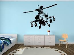 Military Wall Decal Plane Apache Helicopter Us Army Plane Etsy