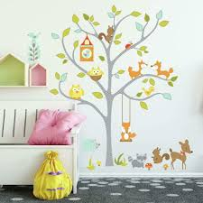 Roommates Rmk2729slm Woodland Fox Friends Tree Peel And Stick Wall Decals Multicolor Amazon Com