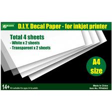 J S Works D I Y Decal Paper For Inkjet Printer Ppa6042 Hobbyworld Usa