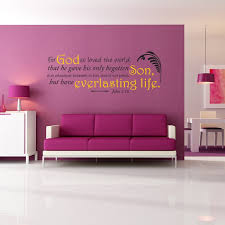 John 3 16 For God So Loved The World Wall Decal Divine Walls