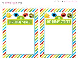 Printable Sesame Street Character Cumpleanos Barrio Sesamo