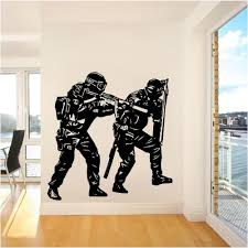 Unique Police Soldier Army Wall Sticker Home Decor Vinyl Decals For Living Room Wall Art Pvc Room Decora Online Wall Art Wall Stickers Home Decor Art Wall Kids