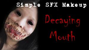 mouth simple sfx makeup tutorial