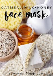 easy diy honey oatmeal face mask