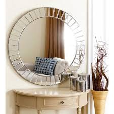 silver abbyson round wall mirror