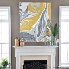 Gold Gilded Marble Canvas Glam Up Your Wall Art Made In A Day