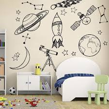 Space Mix Wall Decals Kids Room Wall Stickers Just Kidding Store