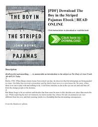 Pdf Download The Boy In The Striped Pajamas Ebook Read Online