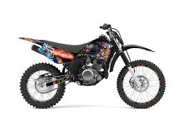 Yamaha Ttr125 Dirt Bike Graphics Ed Hardy Pirates Black Mx Graphic Decal Wrap Kit 2000 2016 Dirt Bike Graphics Graphic Kits
