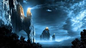 fantasy art landscapes fire signal lord