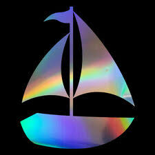 Sailboat Sailing Boat Nautical Decal Decals Sticker Stickers Auto Vinyl Sty3 For Sale Online Ebay