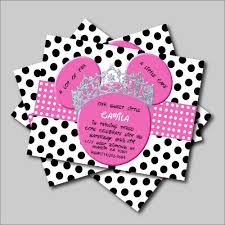 14 Unids Lote Rosa Minnie Mouse Cumpleanos Invitaciones Minnie