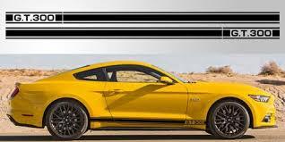Mustang Gt 300 Triple Stripe Vinyl Decal Stripe Garage