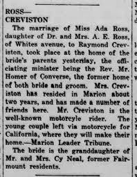 Ray Creviston to Ada Ross - Newspapers.com