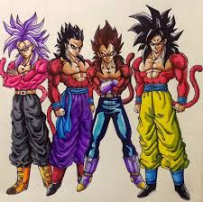 ssj 4 - Goku, Vegeta, Gohan and future Trunks