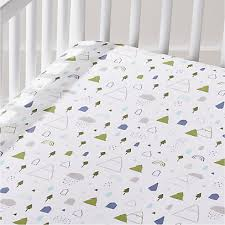 organic stacked animals crib fitted