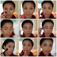 simple makeup tutorial for black skin