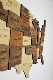 Us Map Of United States Wooden Wall Art Wooden Map Decor Map Etsy Wooden Map Wooden Wall Art Map Wall Decor