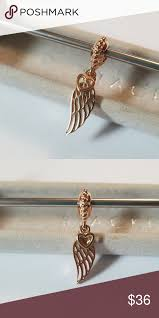 pandora rose gold love gui feather