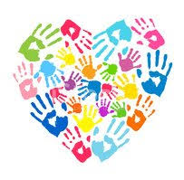 Heart of The Color Handprints Clipart Images