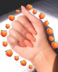 peachy summer nails ecemella
