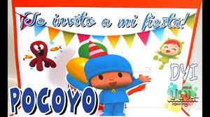 Invitacion Pocoyo Y Sus Amigos Diy Invitacion Infantil Youtube