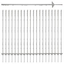 20x Insulated Multi Wire Electric Poly Posts For Electric Fence Solar Energiser Unbranded