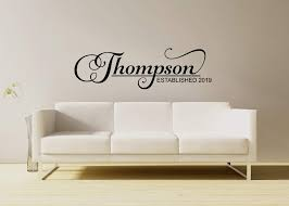 Amazon Com Personalized Custom Family Name Sign Vinyl Wall Decal Sticker Art Handmade