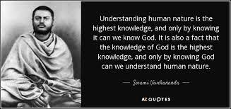 swami vivekananda quote understanding human nature is the highest