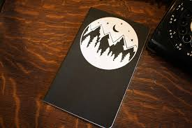 Moon And Trees Bullet Journal Decal The Leather Quill Shoppe
