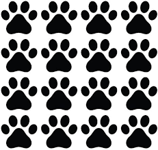 Amazon Com Dog Paw Prints Matte Finish Vinyl Decal Sticker For Walls Electronics Color Variations Available Black 16 Home Kitchen