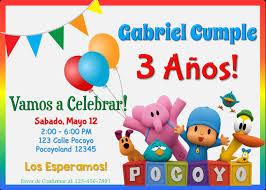 Invitacion De Cumpleanos De Pocoyo Cumpleanos Pocoyo Decoracion